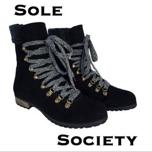 Sole Society ADA Shearling Faux Fur Boots
